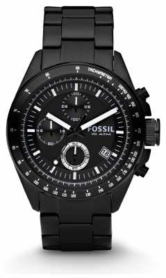 Fossil Mens Black Chronograph Watch CH2601