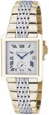 Dreyfuss Mens Two Tone Swiss Bracelet Watch DGB00008/21