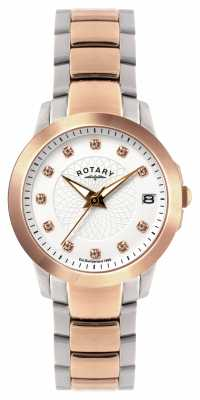 Rotary Ladies Two Tone Bracelet Watch LB02837/41