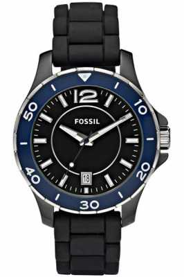 fossil mens black chronograph fs4487