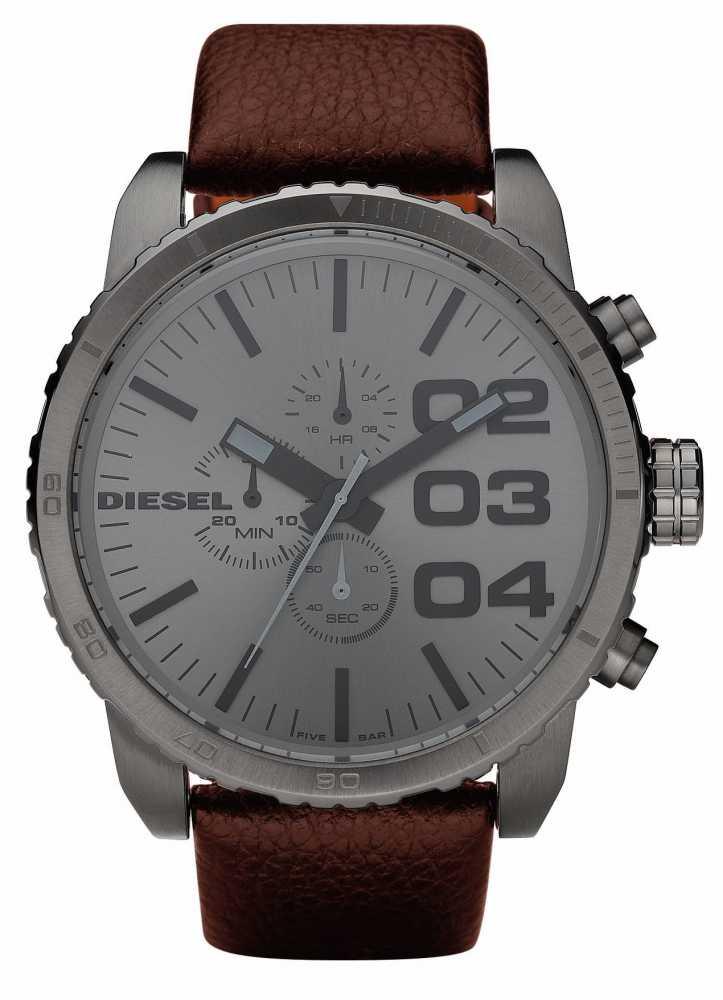 diesel mens chronograph brown leather watch dz4210 diesel dz4210