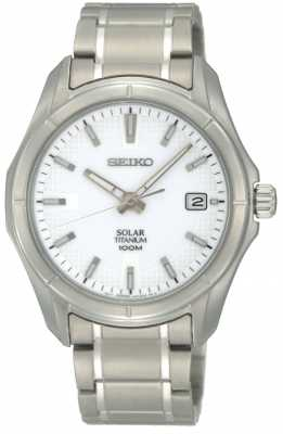 Seiko Mens Titanium Solar Powered SNE139P1