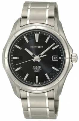 Seiko Mens Titanium Solar Powered SNE141P1
