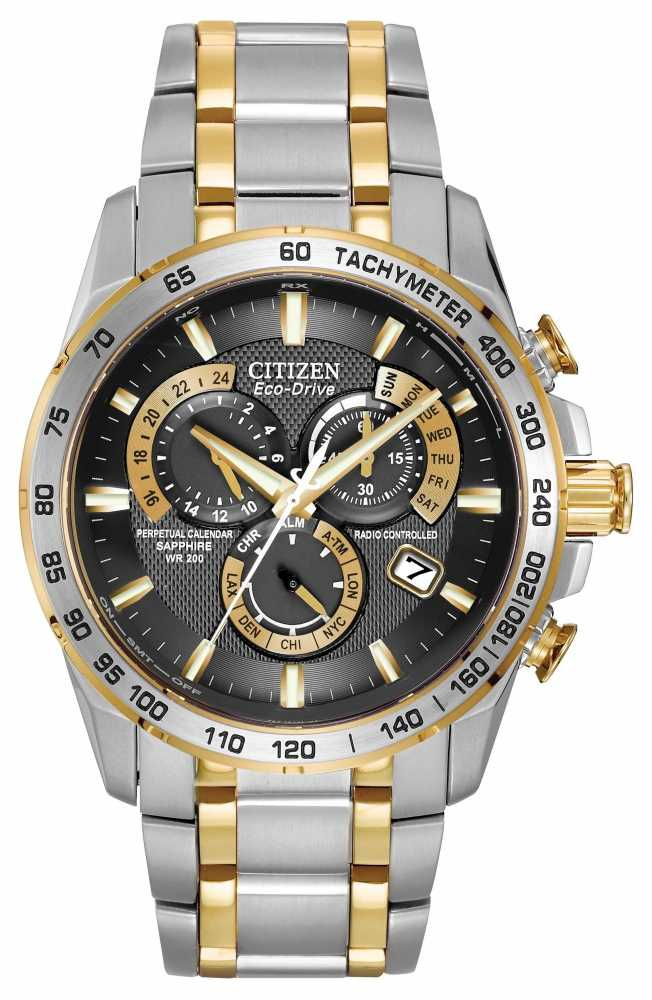 citizen radio controlled perpetual watch at4004 52e