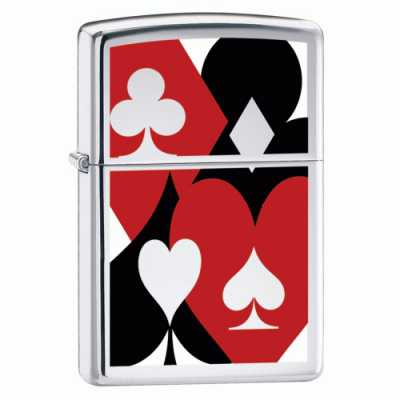 Zippo Suited Lighter High Polish Chrome Finish ZIPPO-20852