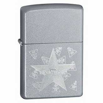 Zippo Hollywood Star Lighter Satin Chrome Finish ZIPPO-21037