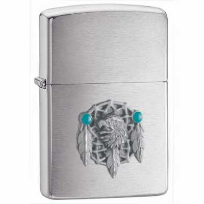 Zippo Dream Catcher Emblem Lighter Brushed Chrome Finish ZIPPO-680