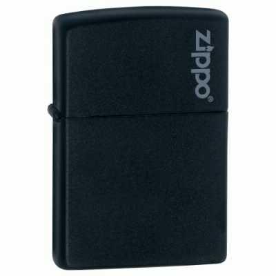 Zippo Black Matte with Zippo Logo ZIPPO-218ZL