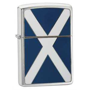 Zippo Scotland Flag Emblem Lighter Brushed Chrome Finish ZIPPO-200S