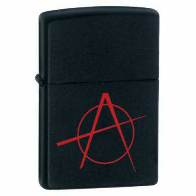Zippo Anarchy Lighter Black Matte ZIPPO-20842