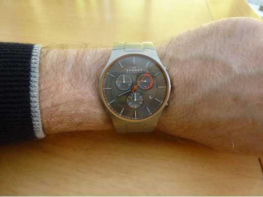 skagen mens aktiv titanium watch skw6076 customer picture of skagen mens aktiv titanium watch skw6076