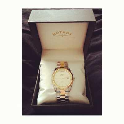 rotary gent s two tone stainless watch gb02661 20 customer picture of rotary gent s two tone stainless steel bracelet havana watch gb02661 20